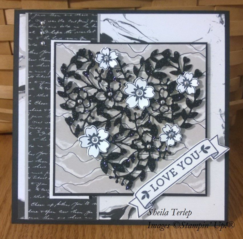 Stampin' Up! Bloomin' Heart die, Going Places DSP, Bloomin' Love set