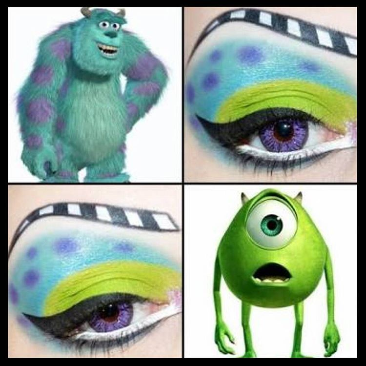 Monsters Inc Disney Eye Makeup