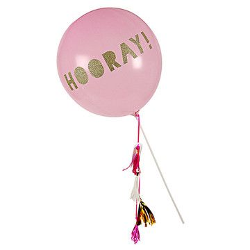 balloon wand - Wand, tassels, balloon, and letter stickers. Make?