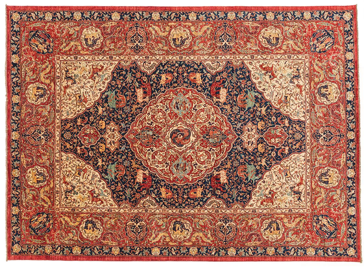 Lot 57 A Badriz Tribal Coronation Carpet Design Knot 350 Per Sq Inch Material Yaqoub Wool Dimensions 367 X 263 Cm Tribal Carpets Carpet Design Carpet