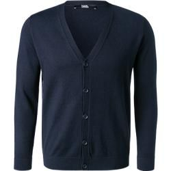 Photo of Karl Lagerfeld Cardigans men, wool, blue Karl Lagerfeld