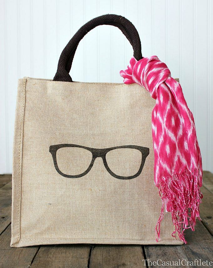 Burlap Bag With Iron On Transfer Diy Gifts Mothers Day Quis
