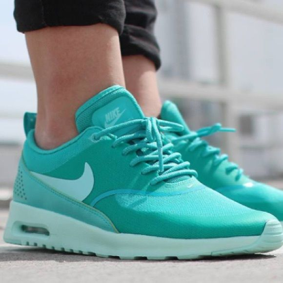 4ff69efef13 nike air max thea These are super cute turquoise Nike air max thea. I ve  worn them like twice but I found the same ones with a sparkle Nike so I  wanted ...