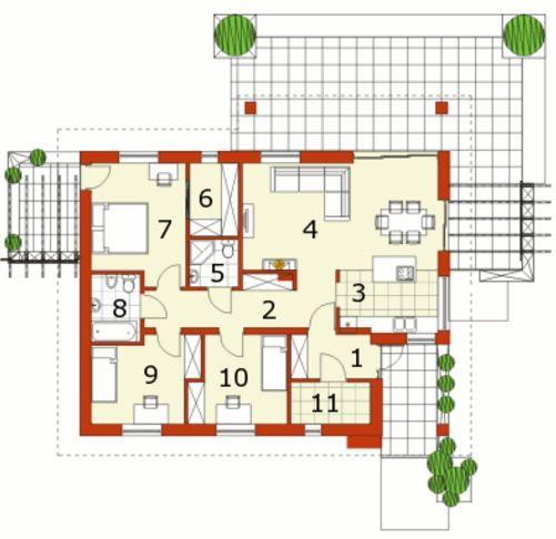 Modelos De Casas De 3 Dormitorios Y 2 Banos Planos De Casas Casas Planos