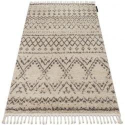 Teppich Berber Rabat G0526 sahne / braun Franse berber marokkanisch shaggy zottig 60x200 cm