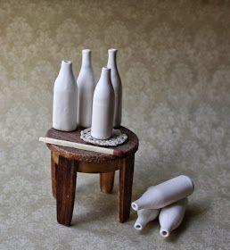 Miniature pottery, Dolls house pottery, Dolls house ceramics, Miniature Ceramics, Nukkekodin keramiikkaa ja koriste-esineitä 1:12.