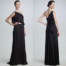 Black greek goddess dresses for prom