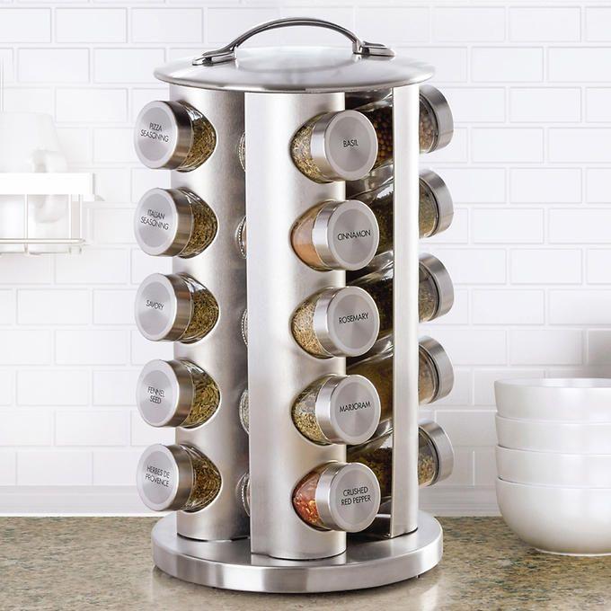 Kamenstein 20 Jar Stainless Steel Revolving E Rack Costco