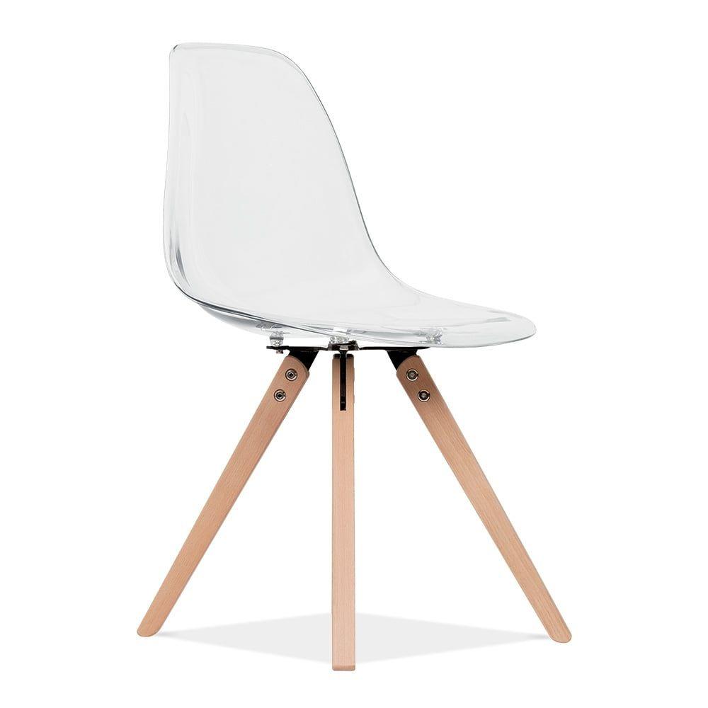 magnifique chaise transparente pied bois - Chaise Transparente Pied Bois