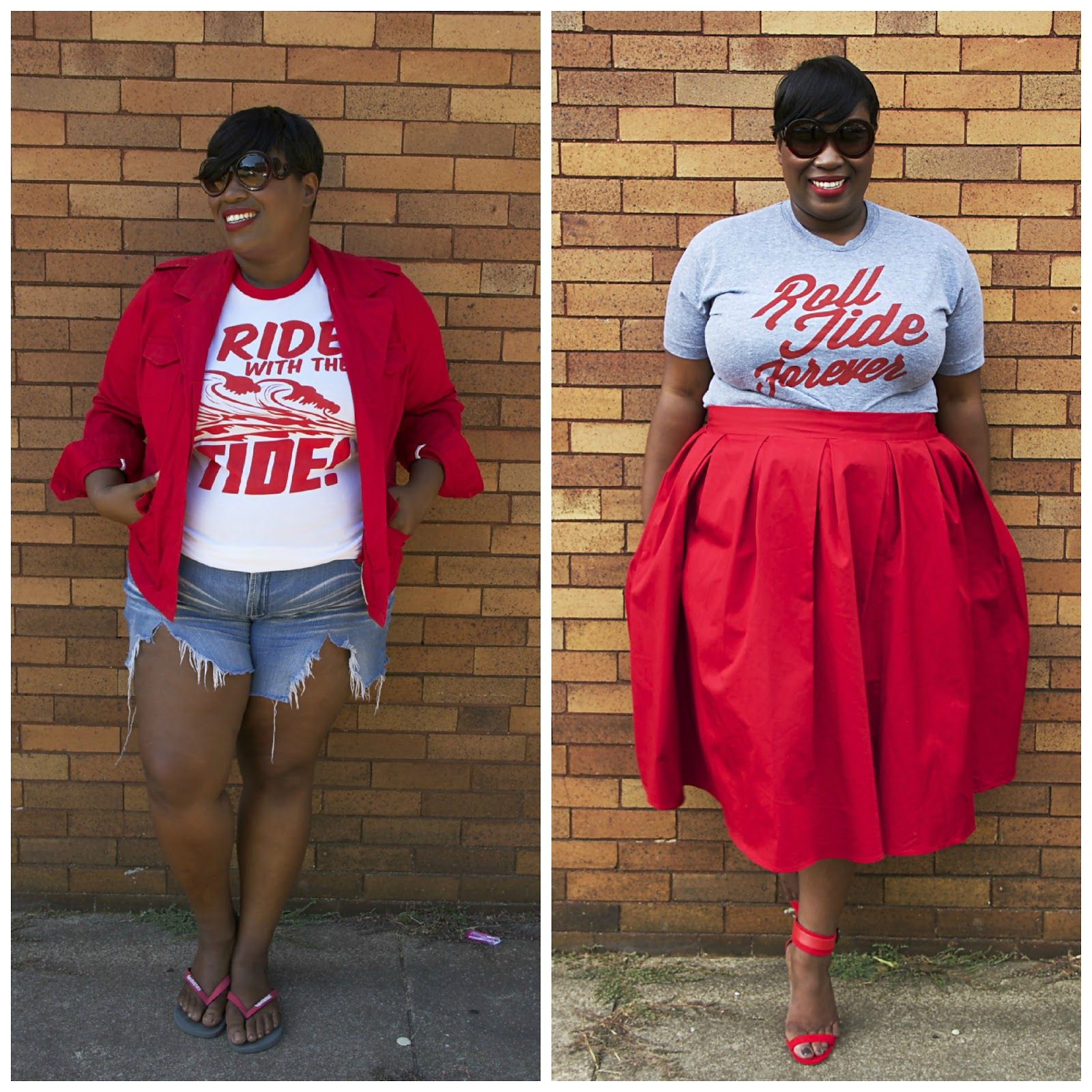 1edc5309 Two fabulous ways to wear a graphic tee (and look cute a sports game ...