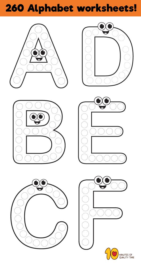 260 Alphabet Printables Alphabet Activities Preschool, Preschool Alphabet  Printables, Alphabet Worksheets Preschool