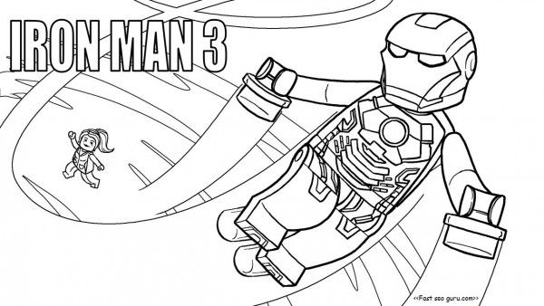 Free Printable Lego Movies 2 Iron Man Coloring Pages For Kids