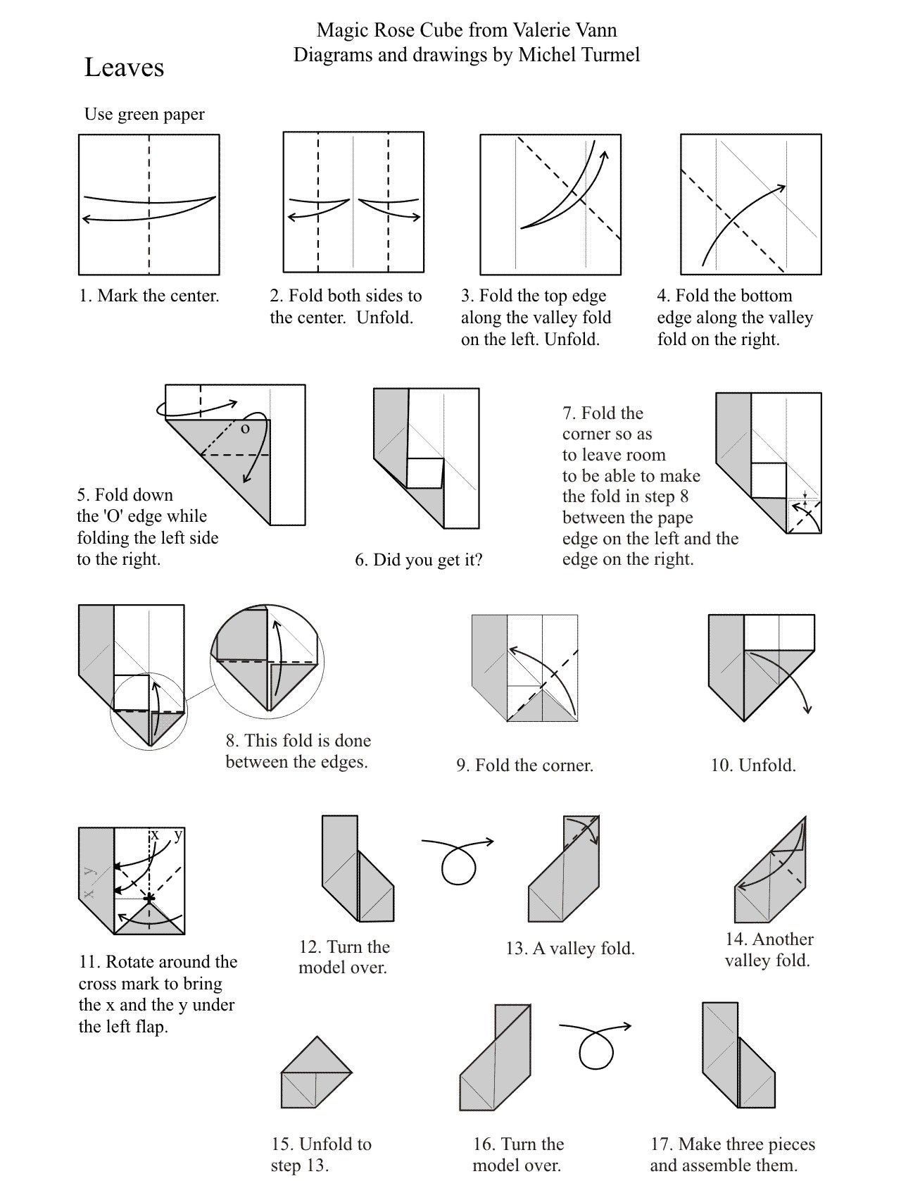 hight resolution of tutorial origami rose cube origamirose origami folding for fun free origami diagrams roses molecules and more