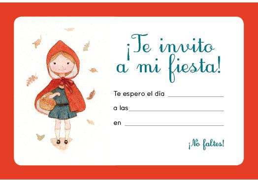 Caperucita Nos Invita A Su Fiesta Otoñal Caperucita Roja
