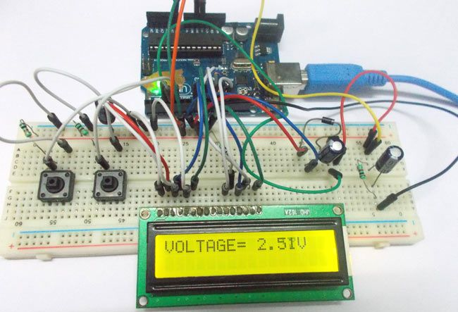 Variable Frequency Generator Using Arduino Project With Circuit