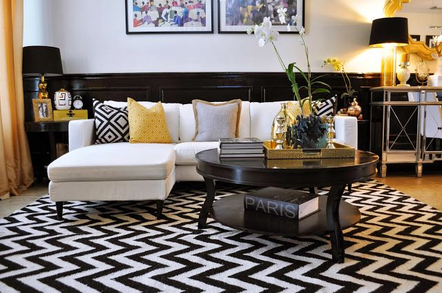 A Black White And Gold Reveal Gold Living Room Living Room