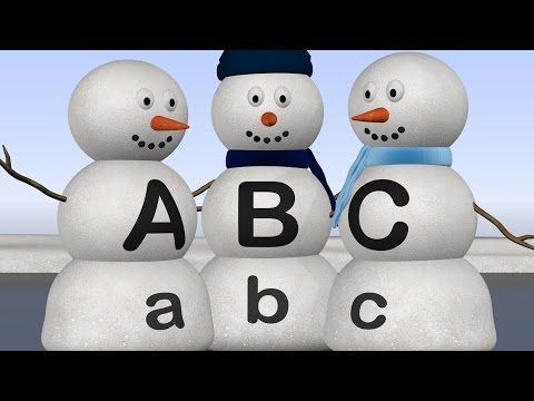Learn ABC's With Alphabet Snowmen Http://youtu.be/id27b4oG1Ro Winter  Theme Preschool, Teaching Letters, Lessons For Kids