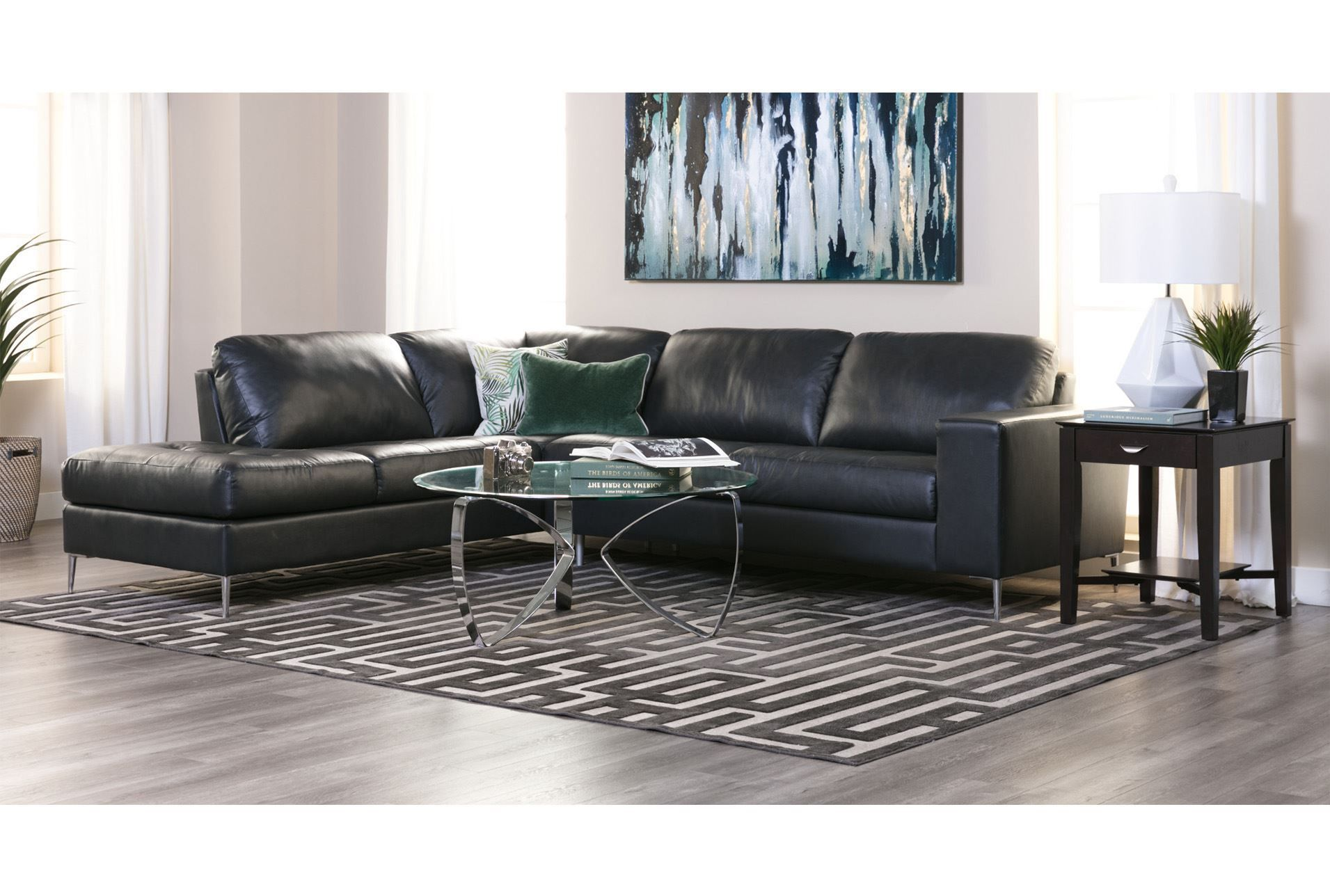 Remarkable Micah Anthracite 2 Piece Sectional W Laf Chaise 360 Inzonedesignstudio Interior Chair Design Inzonedesignstudiocom