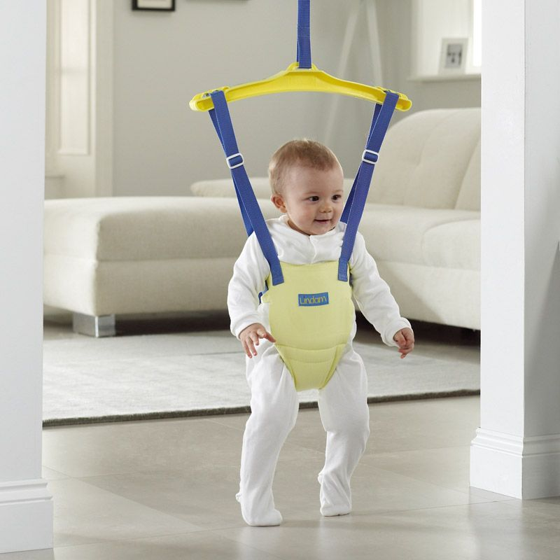 Jump baby door baby door bouncers by lindam we sell both for Door bouncer age