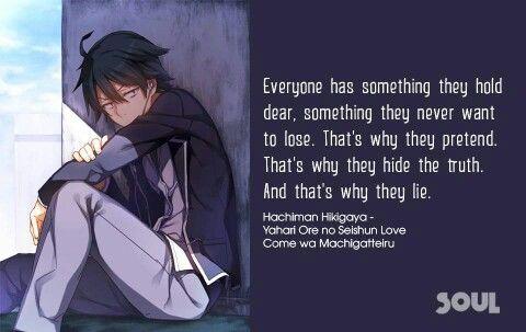 Hikigaya Hachiman Anime Quotes Inspirational Anime Quotes Funny Manga Quotes