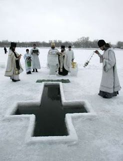 Priests/Blessing of water at Theophany~Epiphany Ceremonie in Russia