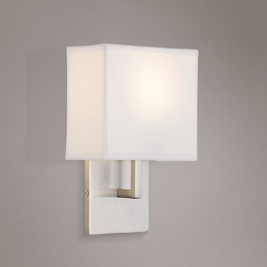 Modern Nickel Fabric George Kovacs Wall Sconce