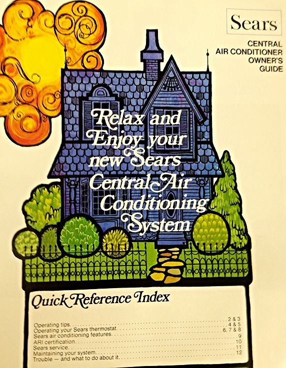 vintage sears air conditioning manual | Air Conditioning in
