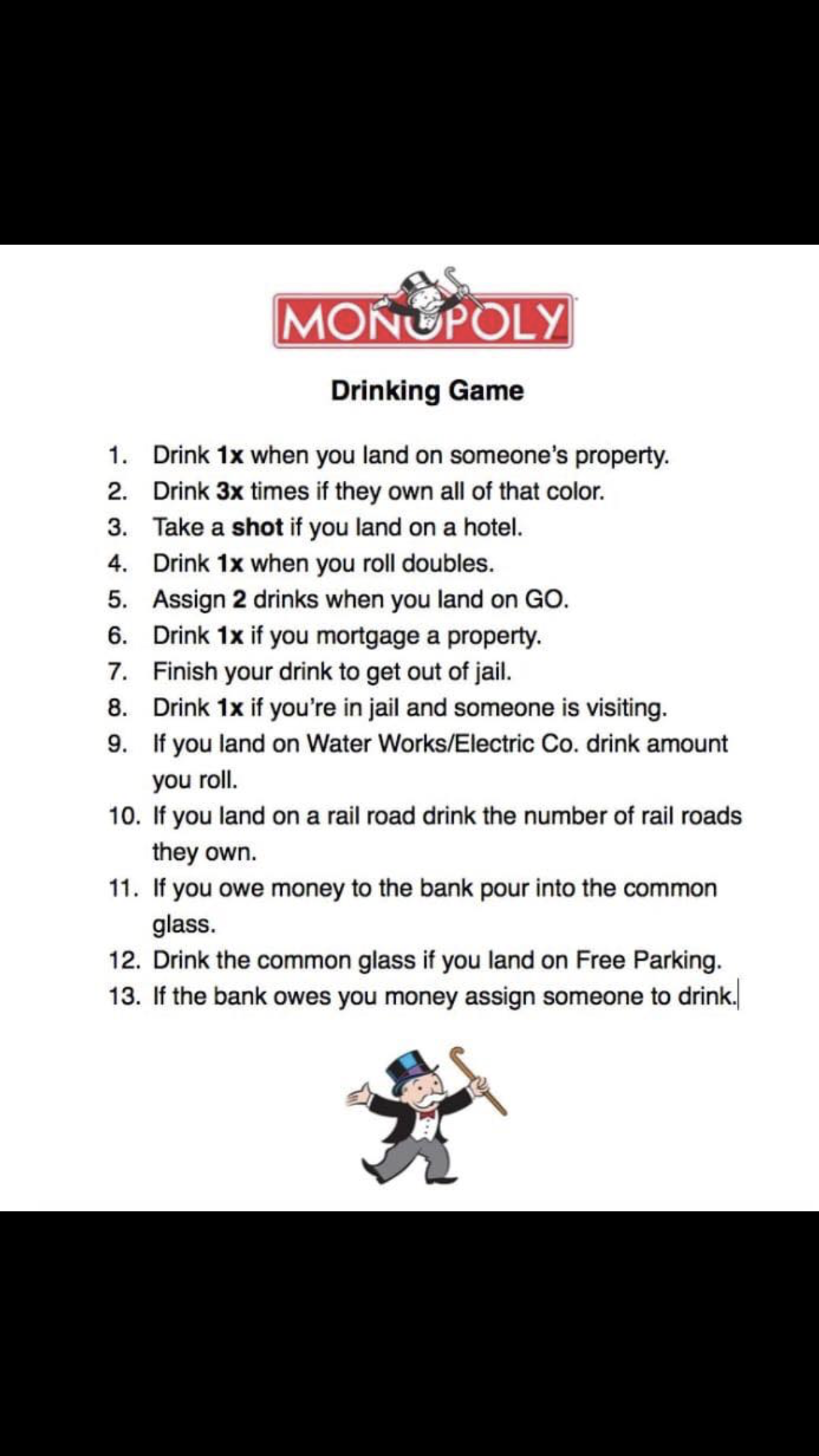 Monopoly drinking game | Gift in 2019 | Monopoly drinking