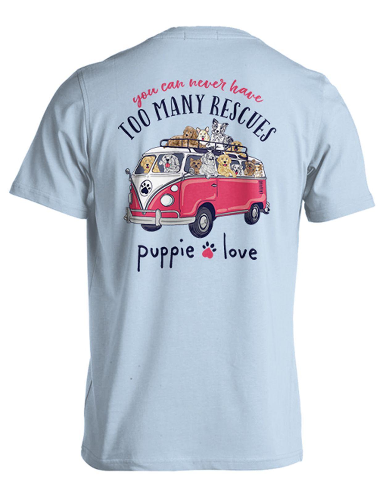 Puppie Love Rescue Dog Adult Unisex Short Sleeve Graphic T