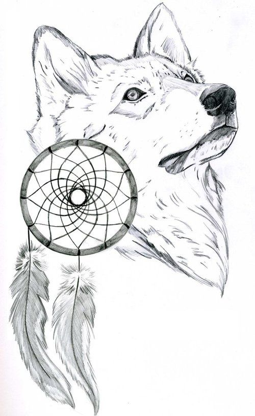 wolf love drawing | We Heart It | drawing, wolf, and white ...
