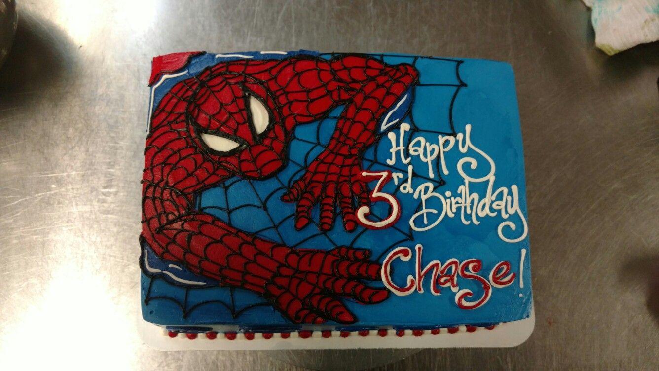 A Quarter Sheet Spider Man Birthday Cake Cakes 2016 Pinterest