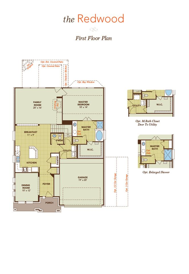 Gehan Homes Redwood Floor Plan With Images Floor Plans New