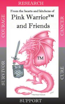 Fantastic Pink Warrior survivor story/cookbook! Soon to be a National Best Seller available online at www.pinkwarrior.com