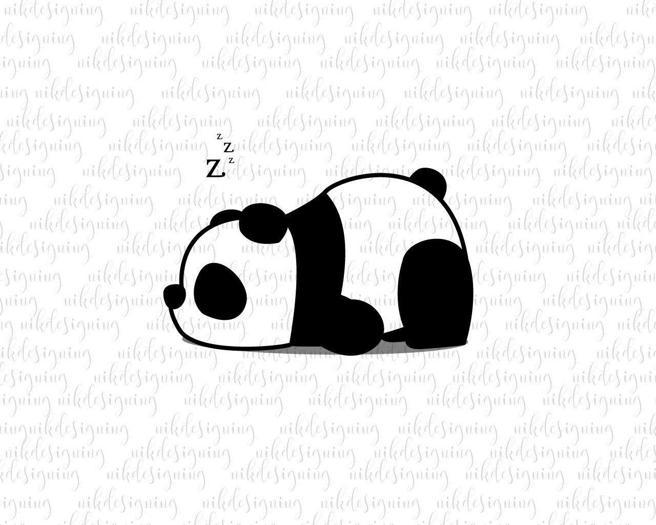 Sleeping Panda Svg Panda Clipart Zoo Svg Animal Svg Panda Svg Svg Eps Instant Download Cute Panda Drawing Panda Drawing Panda Sketch