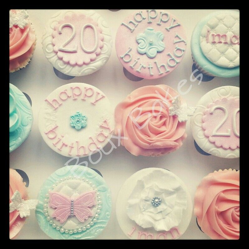 20th Birthday Cupcakes