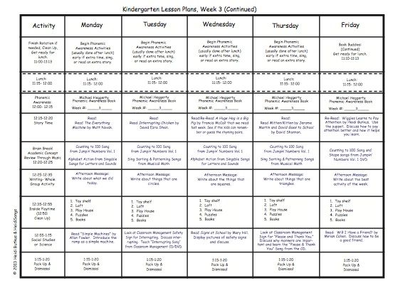 Kindergarten Lesson Plans Week Three! Preschool curriculum - kindergarten lesson plan