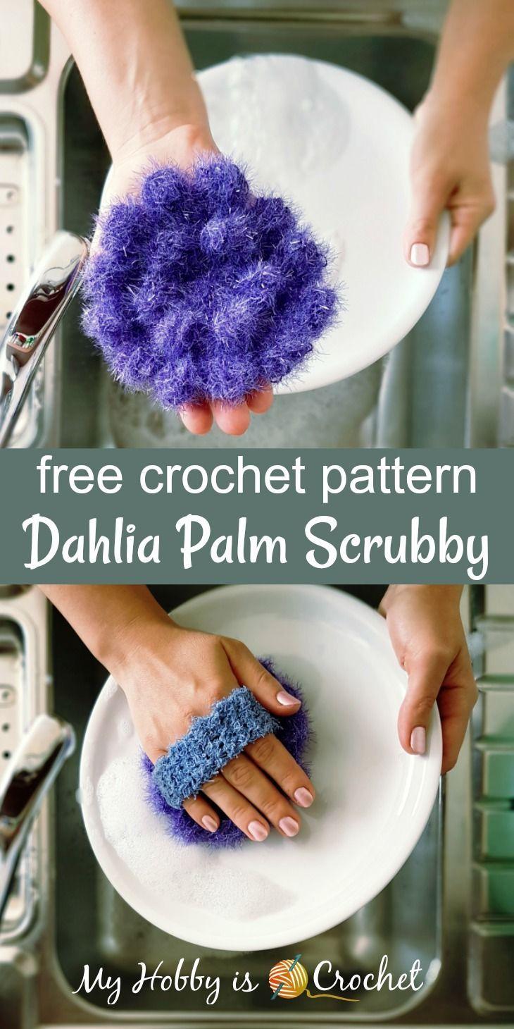 Dahlia Palm Scrubby - Free Crochet Pattern | Patrón de ganchillo ...