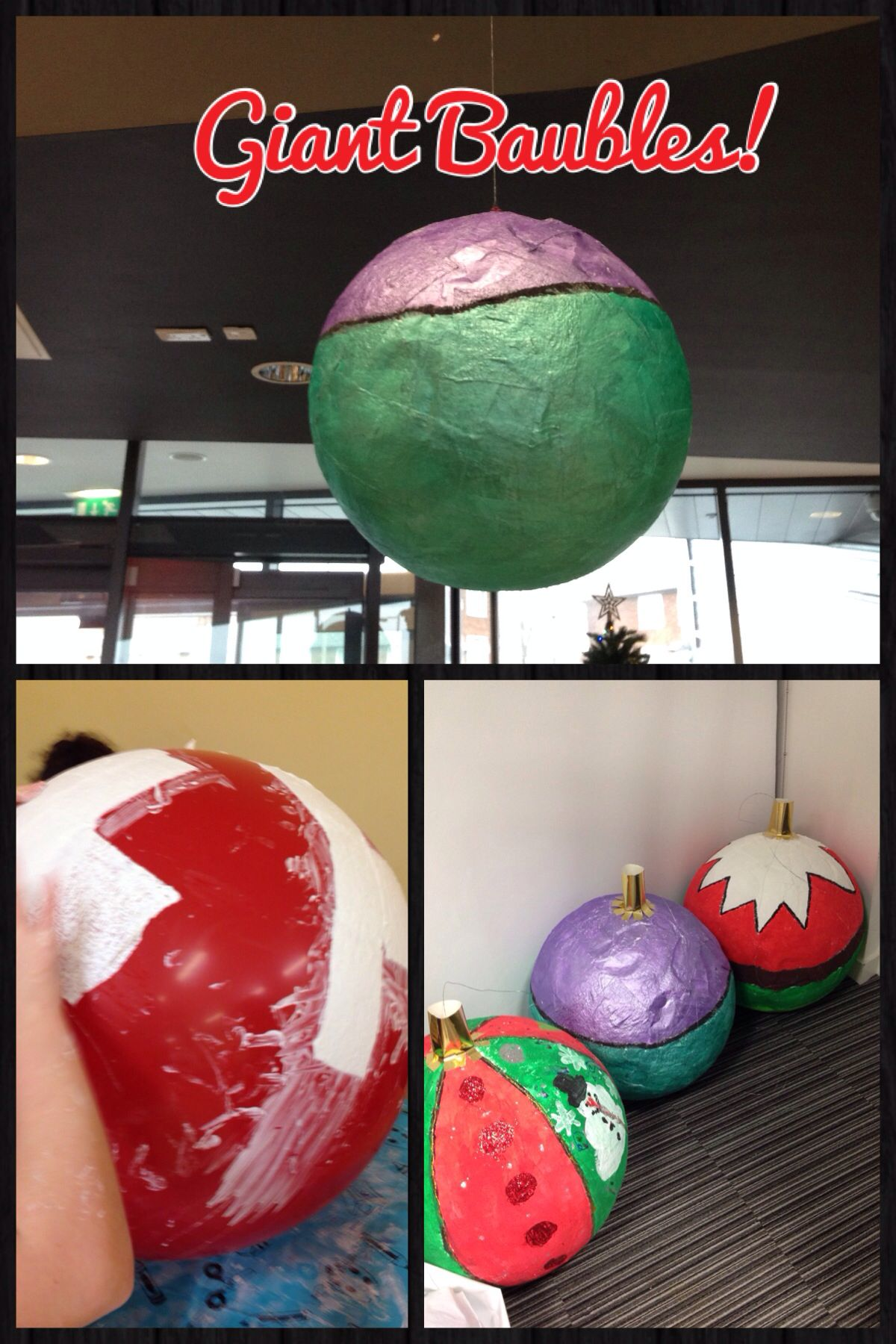 Diy giant christmas baubles could be used as an outside for Large christmas baubles for outside