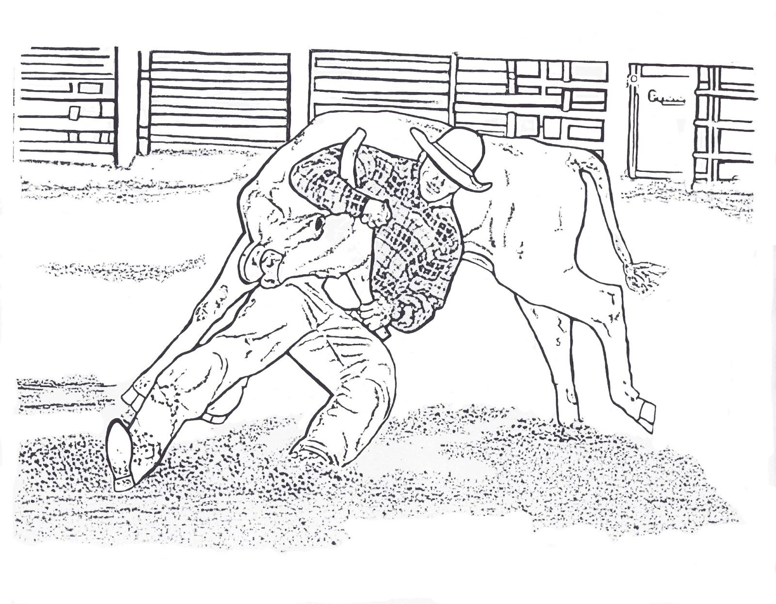 rodeo horse coloring pages - Rodeo Coloring Pages