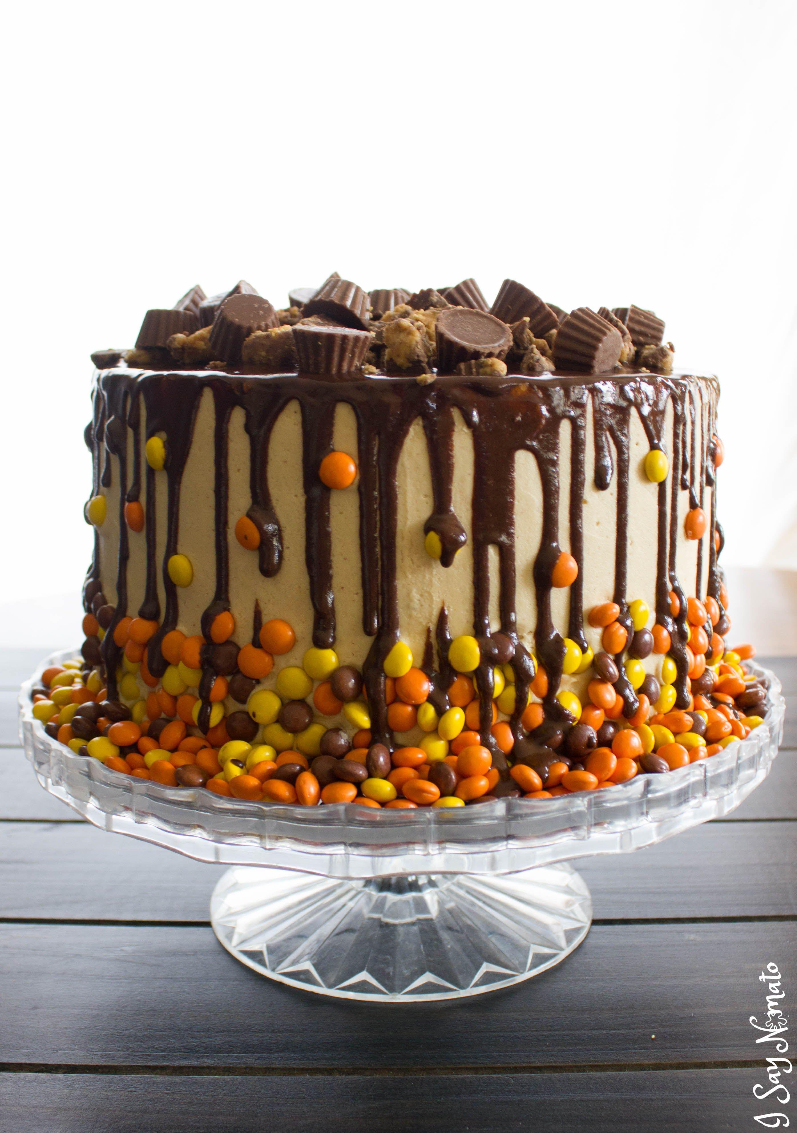 Chocolate And Peanut Butter Drip Cake Recipe Homemade Cakes