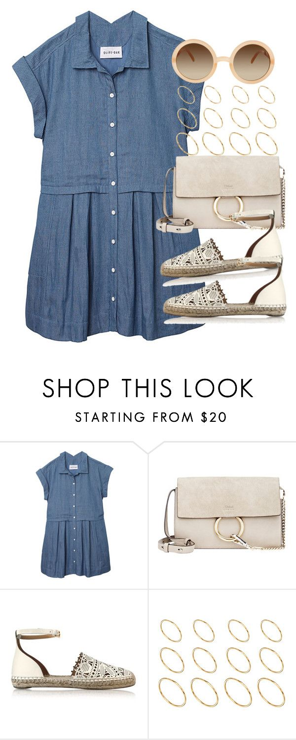 """""""Sin título #3728"""" by hellomissapple on Polyvore featuring moda, Olive + Oak, Chloé, Tory Burch y ASOS"""