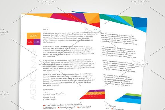 Creative designer letterhead by sherman jackson on creativemarket the best collection of corporate letterhead template designs to create a simple letterhead you get these template in different formats like word spiritdancerdesigns Image collections