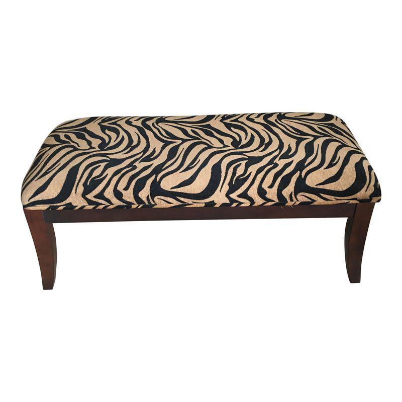 Modern Zebra Print Waterfall Bench In 2019 Interior Design Classes Zebra Print Bench Furniture