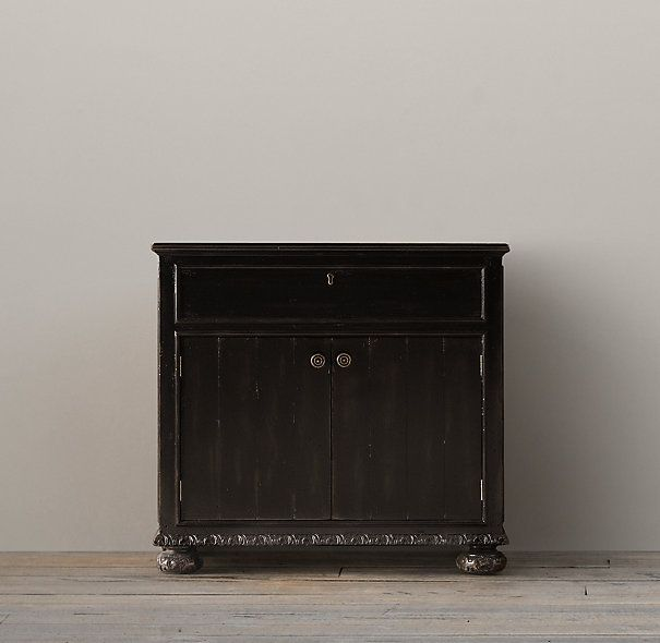 Restoration Hardware French Empire Single Vanity Sink Base DESIGN    Blackhawk Furniture
