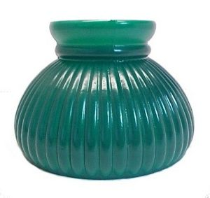 Ribbed green 6 student lamp shade lighting replacement lampshade ribbed green 6 student lamp shade lighting replacement lampshade for kerosene oil burners or mozeypictures Image collections