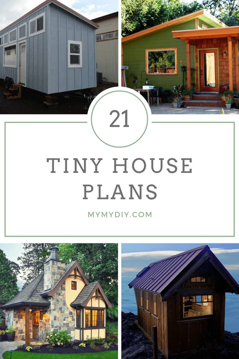 21 Diy Tiny House Plans Free Mymydiy Inspiring Diy Projects Diy Tiny House Plans Tiny House Plans Tiny Houses Plans With Loft