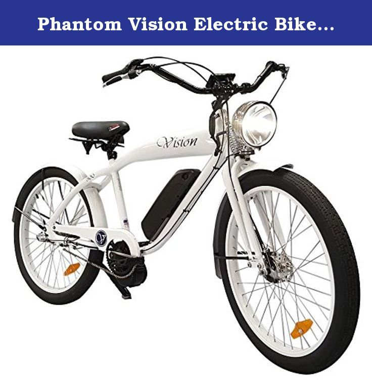 Phantom Vision Electric Bike, White Gloss. The phantom electric ...