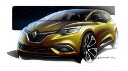 New Renault Scenic Design Sketch Render By Jeremie Sommer Scenic Design Sketch Automotive Design Car Design Sketch