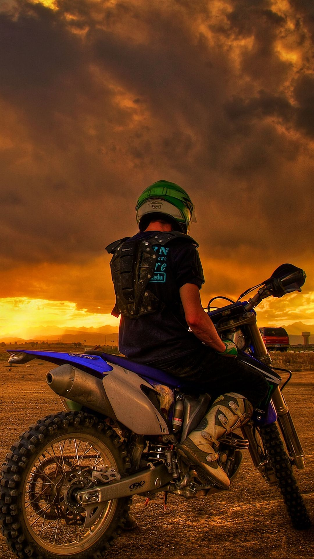 Wallpapers freestyle motocross, motorcycle, sunset, ktm