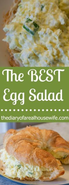 The Best Egg Salad. I love what she added to make the eggs so fluffy! What a great idea.